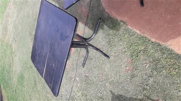 Two black tables for sale