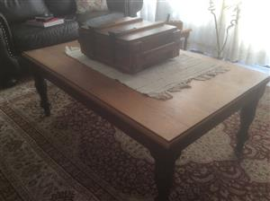 Solid yellow and Blackwood coffee table for sale