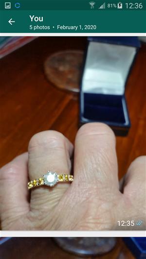 Beautiful solitaire diamond engagement  ring