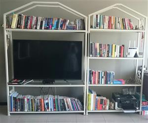 Steel and Glass Bookcases