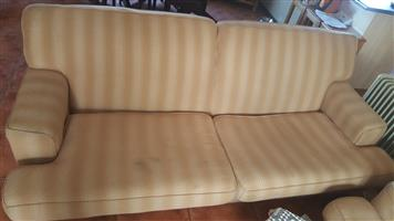 Couches - Cream & White material - strong and heavy duty