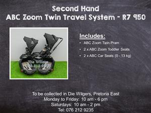 Second Hand ABC Zoom Twin Travel System