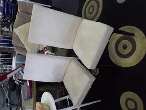 2x Suede Material Chairs