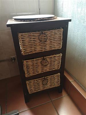 3 Basket drawer stand for sale