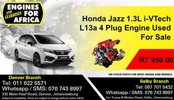 Honda Jazz 1.3L i-VTech L13a 4 Plug Engine Used For Sale