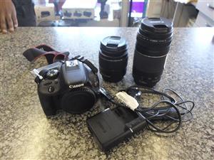 Canon EOS 100D Camera + 2 Lenses