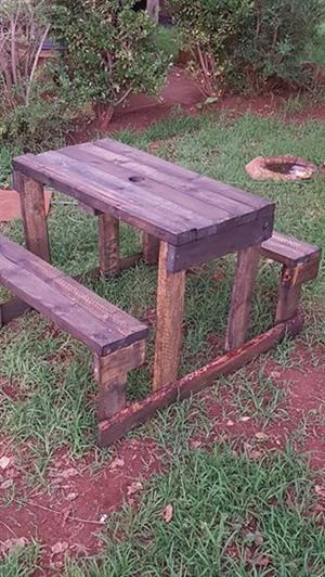 4 Seater picnic bench for adults