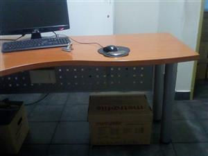 L Desk With Credenza for sale