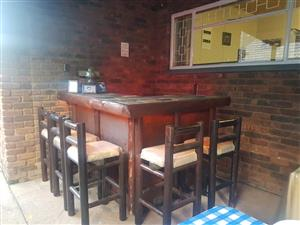 Bar and chairs