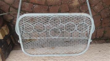 Antique wire garden table