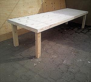 Patio table Farmhouse series 3250 Raw