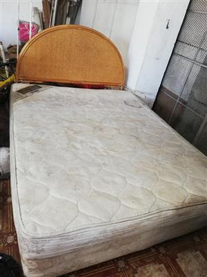 queen bed. mattress and base