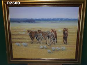 Filipe Aleixo Cheetahs Painting (1190 x 990)