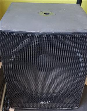 2 x Hybrid Bass Speakers