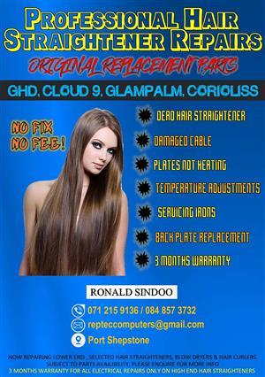 PROFESSIONAL HAIR STRAIGHTENER REPAIRS