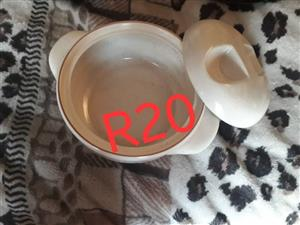 Glass white bowl with lid for sale