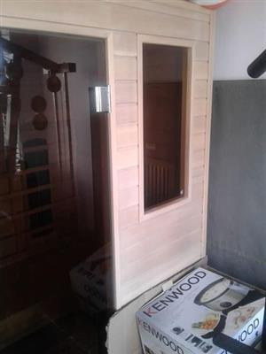 Stunning sauna, almost brand new, for sale.