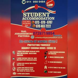 Student Accommodation in Johannesburg for college and varsity students for This Year and Next Year