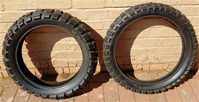 Tyres-offroad for GSA 1200 or equivalent-about 400kms
