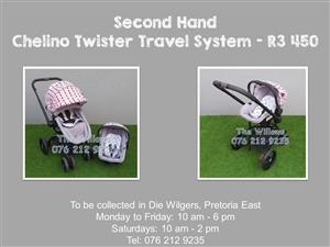 Second Hand Chelino Twister Travel System