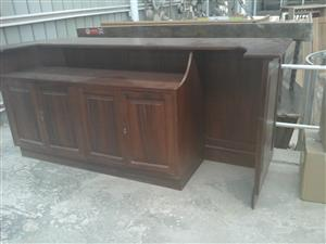 Beautiful second hand wood bar