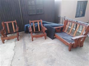 Wooden couches for sale