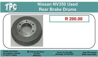 Nissan Nv350 Used Rear Brake Drums For Sale.