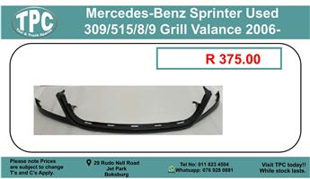 Mercedes-Benz Sprinter Used 309/515/8/9 Grill Valance 2006- For Sale