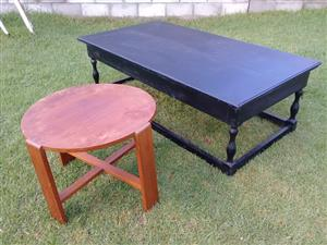 Two solid wood coffee tables for sale.