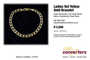 Ladies 9ct Yellow Gold Bracelet