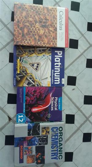Various grade 12 textbooks