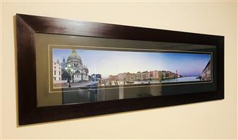 Glass Picture Frame (Mahogany colour)