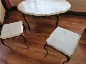 Marble oval antique table