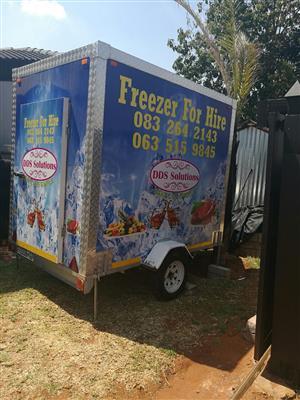 Mobile fridges/freezer for hire