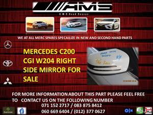 MERCEDES C200 CGI W204 RIGHT SIDE MIRROR