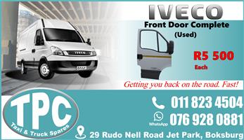 Iveco Front Door Complete - Used - Quality Replacement Taxi Spare Parts.