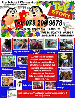 Toy Story Nursery School Pta - North /Kleuterskool English & Afrikaans