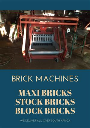 Brick machines @stock ,maxi & block bricks
