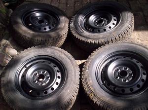 Hilux rims plus 15 inch tyres