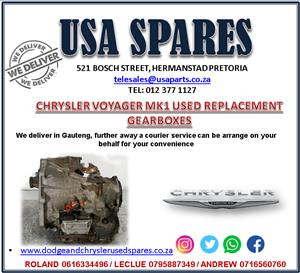 CHRYSLER VOYAGER MK1 USED ENGINES AND ENGINE REPLACEMENT