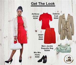 Get this look from 2nd Take. We have international brands like DKNY and Miu Miu.