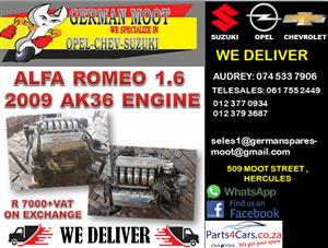 ALFA ROMEO 1.6 2009 USED AK36 ENGINE FOR SALE