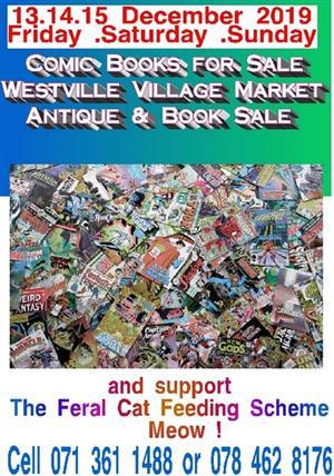 Comics for sale Wstvl Vlg Mkt 13.14.15 Dec