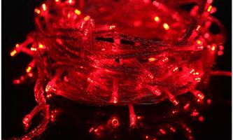 LED Decorative Fairy String Lights Waterproof 220V AC in Red. Extendable. Brand New.