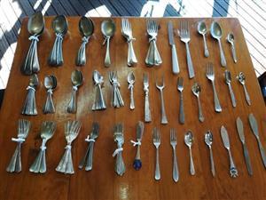 Cutlery: Brass: Tins