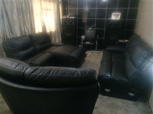 Beautiful Black Leather Couch