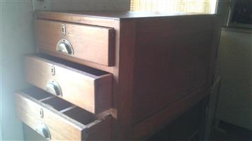Wooden cupboard draws