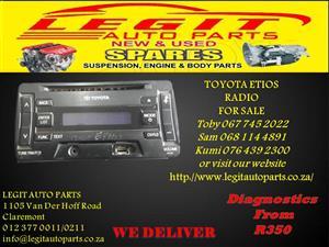 TOYOTA ETIOS  RADIO FOR SALE