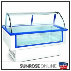 2M MEAT DISPLAY FRIDGE ]WITH CURVE GLASS]