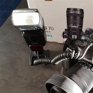 Canon 430EX with offshoe E-TTL cable